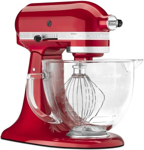 Kitchen aid artisan planetary mixer to make pizza and bread dough
